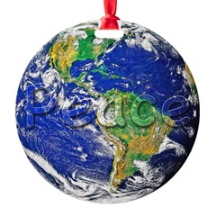 PeaceEarth Round Ornament