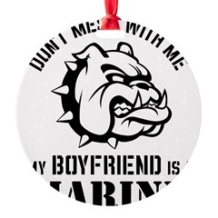 Marine Girlfriend Round Ornament
