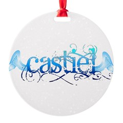 Castiel Wings Round Ornament