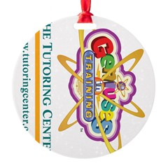 Genius In Training Round Ornament