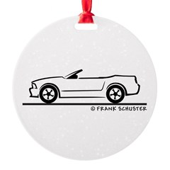 2007 Ford Mustang Convertible Round Ornament