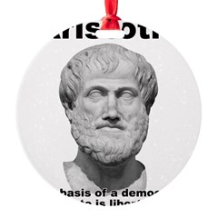 Aristotle Liberty Round Ornament