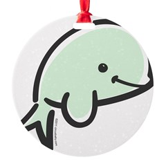 Cute Baby Beluga Round Ornament