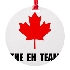 Canada The Eh Team Round Ornament