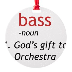 Bass Definition Round Ornament