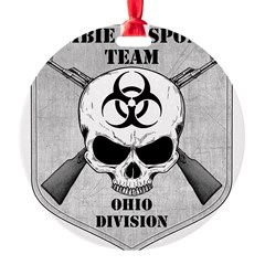 Zombie Response Team: Ohio Division Round Ornament