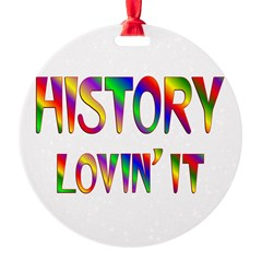 History Love Round Ornament