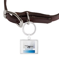 Aircraft Float Plane Large Landscape Pet Tag