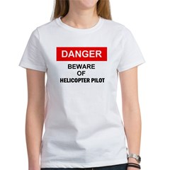 Beware/ Go Vertical Helicopter Ash Grey Women's T-Shirt