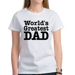 World's Greatest Dad Ash Grey Women's T-Shirt