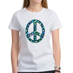 Mosaic Peace, blue Women's T-Shirt