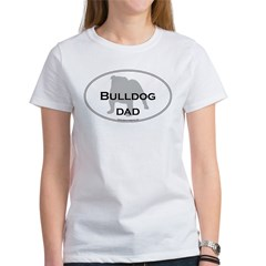 Bulldog DAD Ash Grey Women's T-Shirt