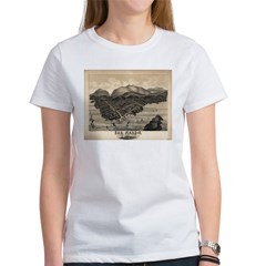 Antique map of Bar Harbor, Ma Women's T-Shirt