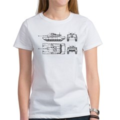 M1-A1 Abrams Main Battle Tank Women's T-Shirt