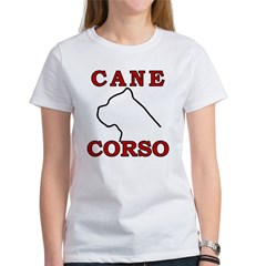 Cane Corso Logo Red Women's T-Shirt
