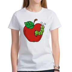 Wormy Apple Women's T-Shirt