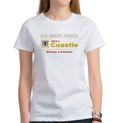 Once a Coastie - Always a Coastie Women's T-Shirt