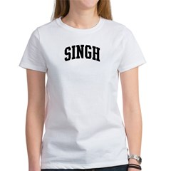 SINGH (curve-black) Women's T-Shirt