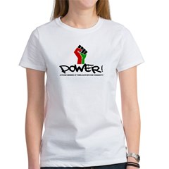 Women's Plus Size V-Neck Dark Black Power Shirt Women's T-Shirt
