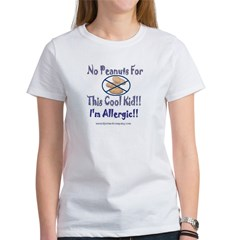 No Peanuts For This Cool Kid Women's T-Shirt
