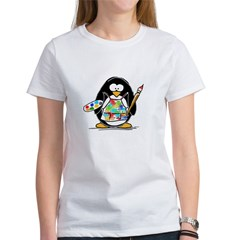 Artist Penguin Women's T-Shirt