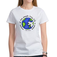 Imagine - World - Live in Peace Women's T-Shirt