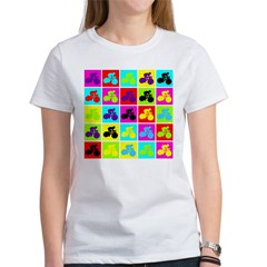 Pop Art Cyclist Women's T-Shirt