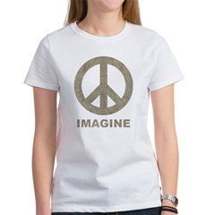 VintageImaginePeace1Bk Women's T-Shirt
