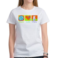 Peace Love Cats Women's T-Shirt