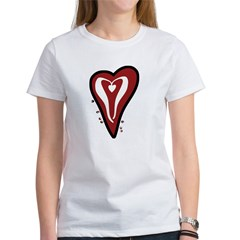 Valentine Dotty Heart Women's T-Shirt