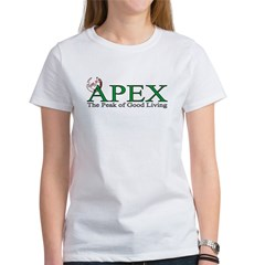 Apex North Carolina Peak of Good Living Women's T-Shirt