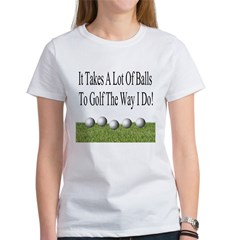 Golf Balls Women's T-Shirt