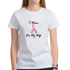 I Wear Pink For My Wife 1.2 Women's T-Shirt