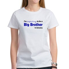 I'm Expecting Big Bro January Women's T-Shirt
