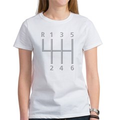2-Stick Shift 6 Speed.psd Women's T-Shirt