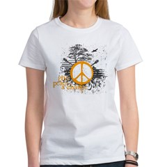 give_peace_scene_orange_dark Women's T-Shirt