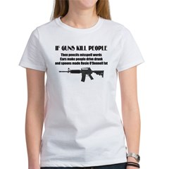 3-Guns dont kill people.jpg Women's T-Shirt