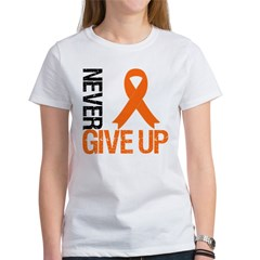NeverGiveUp OrangeRibbon Women's T-Shirt