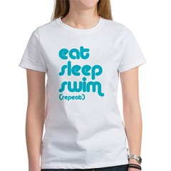 Eat, Sleep, Swim Women's T-Shirt