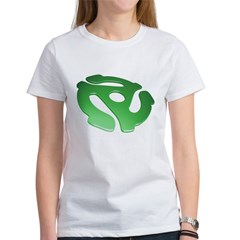 green-3d-45-rpm-adapter-dk Women's T-Shirt