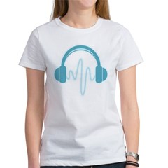 Blue Headphones Maternity Tee (Dark) Women's T-Shirt