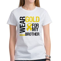I Wear Gold For My Brother Women's T-Shirt