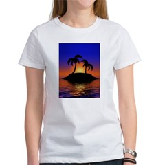 sunrise-sunset--palm-tree-s.jpg Women's T-Shirt
