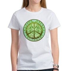 Peaceful Tree Hugger Women's T-Shirt
