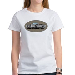 66-67 White / Silver GTO Convertible Women's T-Shirt