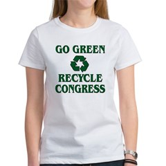 Go Green - Recycle Congress Women's T-Shirt