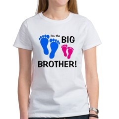 Big Brother Baby Footprints Women's T-Shirt