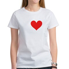 I Heart Volleyball: Women's T-Shirt