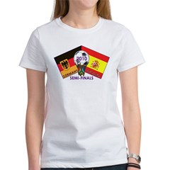 Germany vs. Spain 2010 Soccer Women's T-Shirt