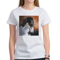 Borzoi by Dawn Secord Women's T-Shirt